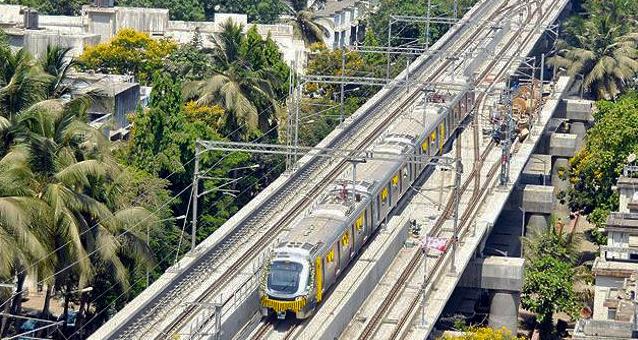 Mumbai Metro Aerial View