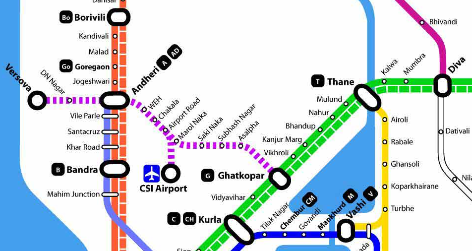Mumbai Metro Line1 Map
