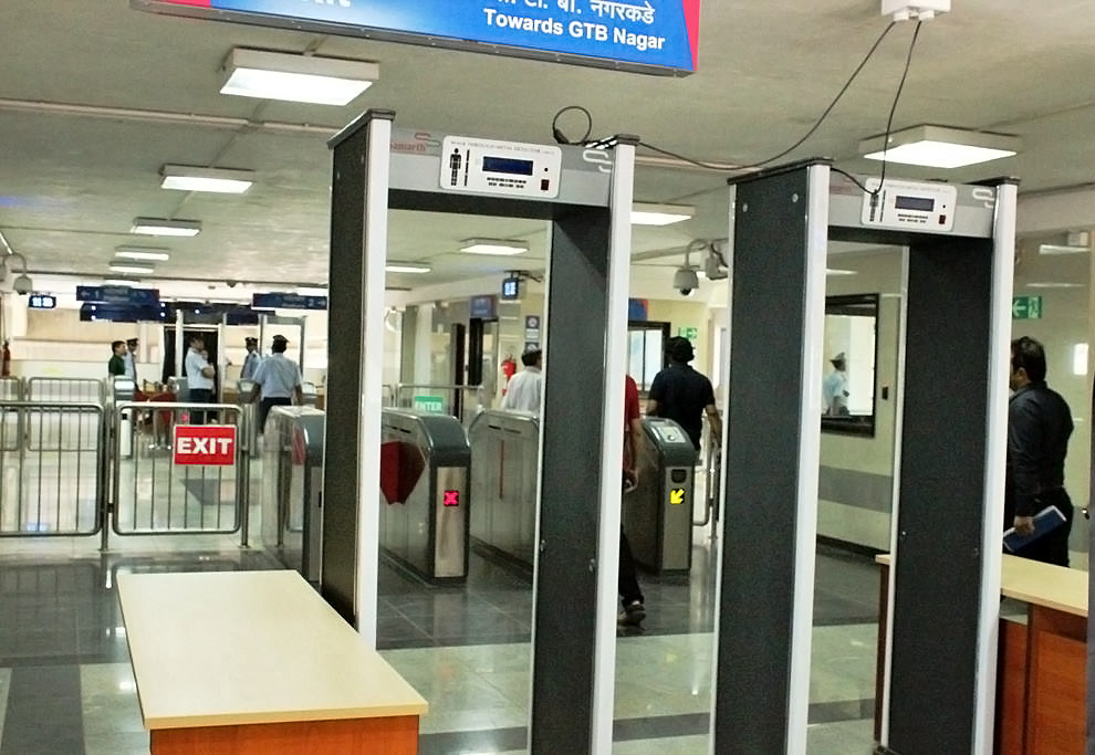 GTB Nagar Monorail Security Check