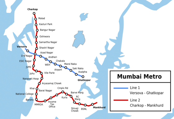 Mumbai Metro Rail Map