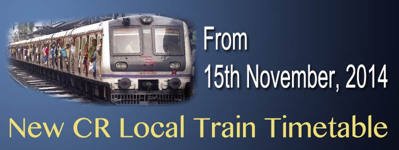 New CR local train timetable from 15-nov-2014