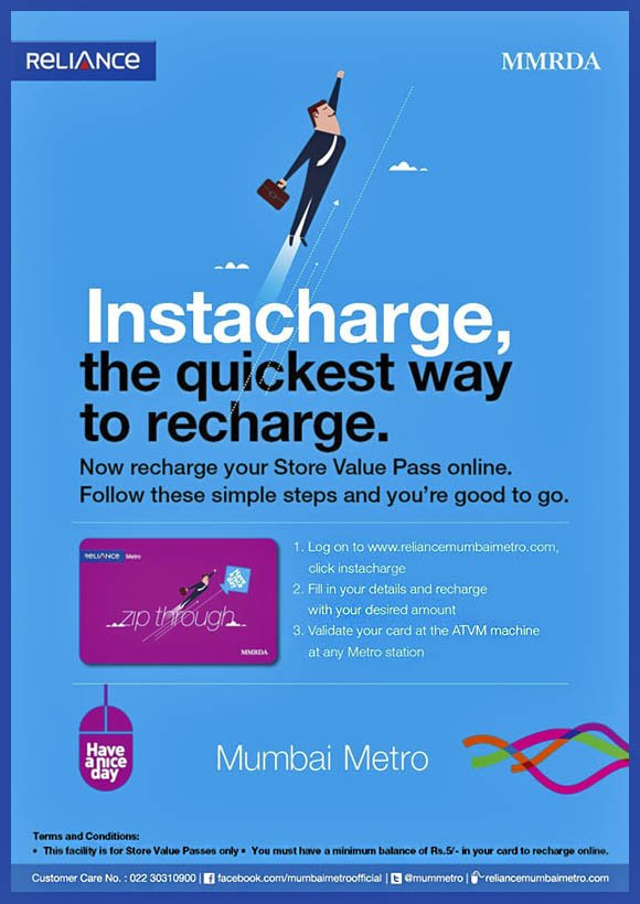 Mumbai metro online recharge