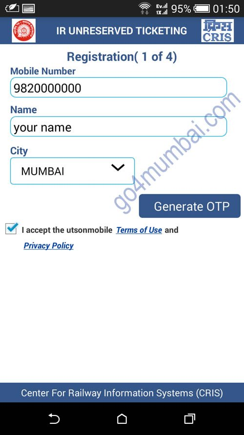 Mumbai local train tickets from mobile app now |