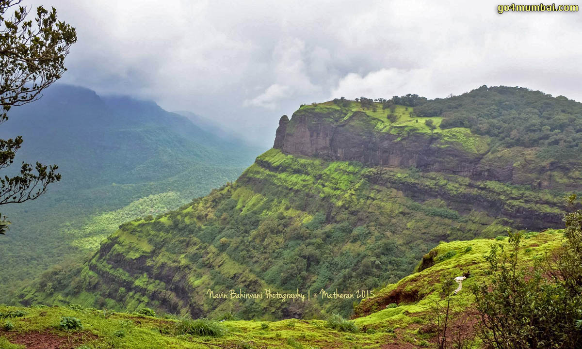 Stunning view of Matheran Mountains during Monsoon