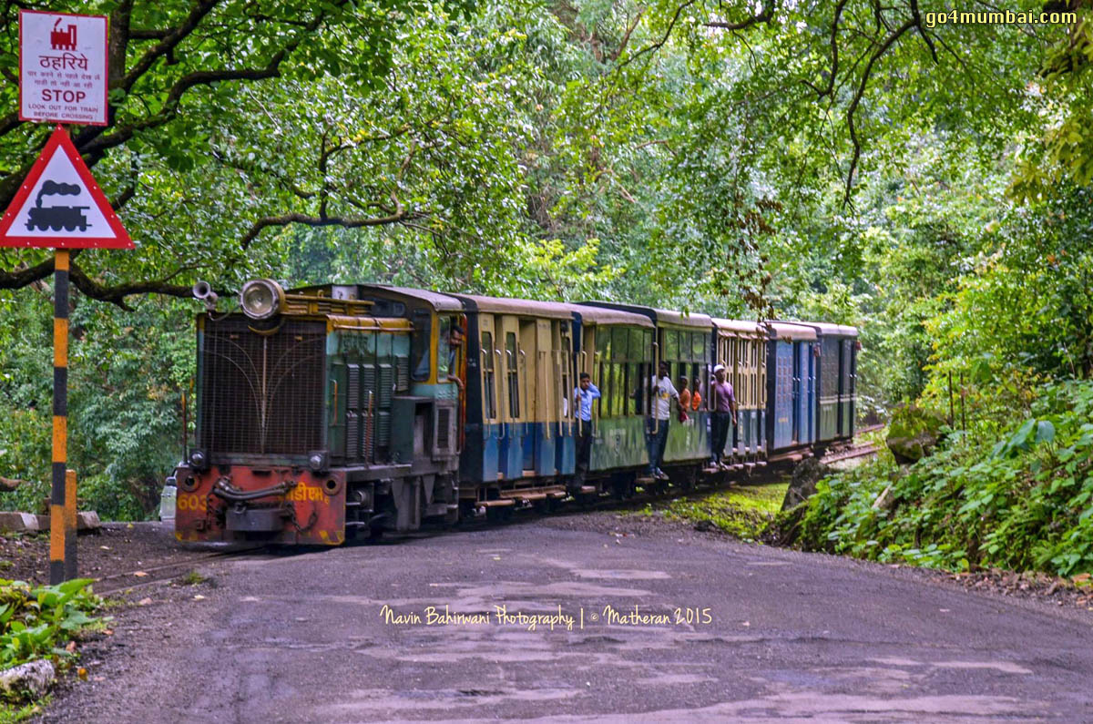 Matheran Toy Train road crossing