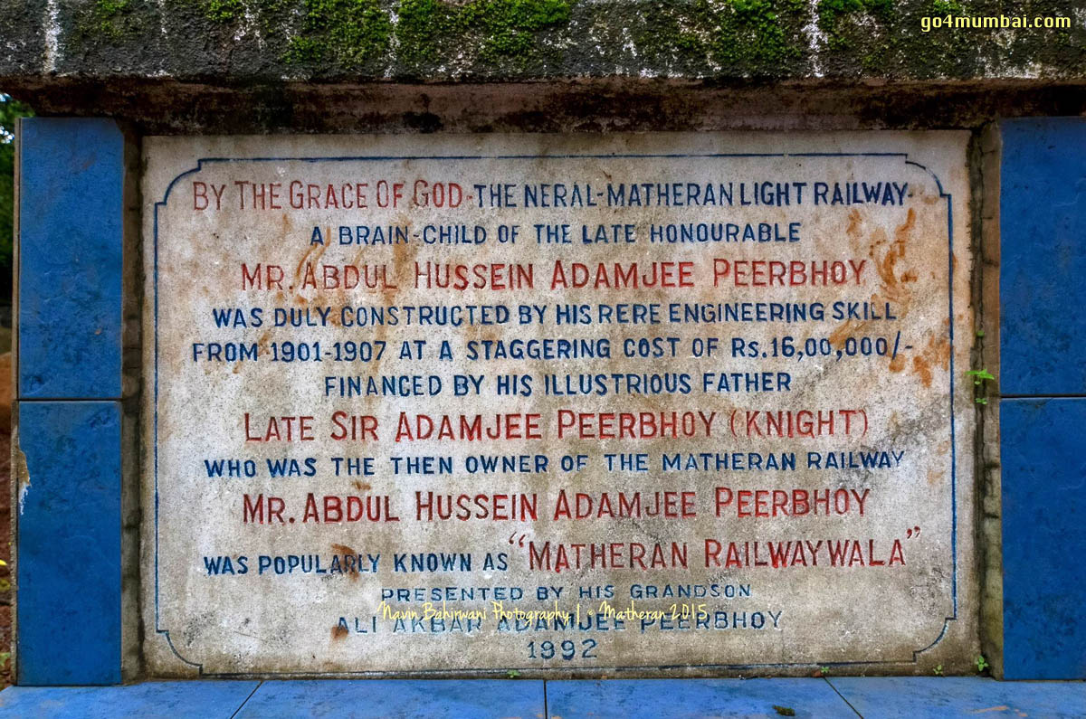 Neral Matheran Train Foundation Stone Matheran Railwaywala