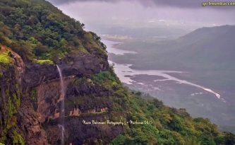 Stunning view of Waterfall in Matheran Mountain