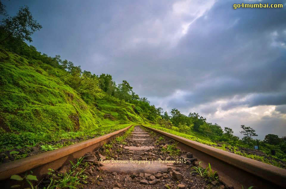 on Railway Narrow gauge Tracks Matheran Track