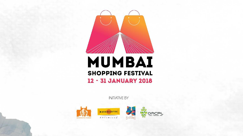 Mumbai Shopping Festival 12-31 January 2018 Initiative by Maharashtra Govt, MTDC