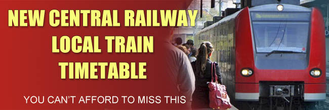 New Mumbai Local Train Timetable Central Railway